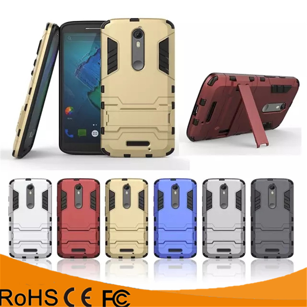 New products kickstand combo tpu pc cell phone case for Motorola moto X force combo back case cover for Motorola moto X force
