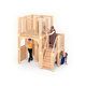 Kindergarten children wooden kids used Montessori indoor playground equipment