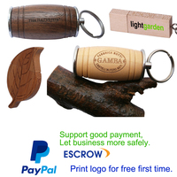 Paypal acceptable 5 years warranty bulk wood usb flash drive