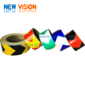 50mm*25m Yellow Black PVC Arrow Reflective Tape
