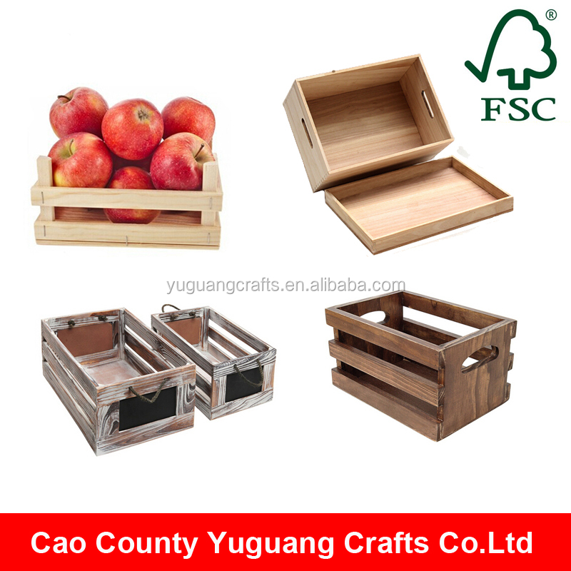 Custom accepted no foldable handmade cheap wooden fruit for Buy wooden fruit crates