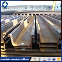 Chinese Hot rolled steel sheet pile with JIS SY295 grade