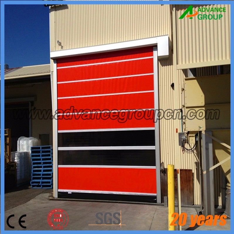 China high performance pvc rolling shutter door / pvc plastic roll up door
