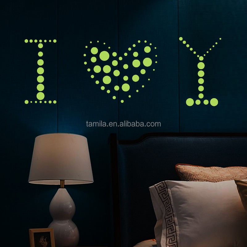 night decoration luminous stickers wall home living room bedroom TV background decals glow in the dark wallpaper