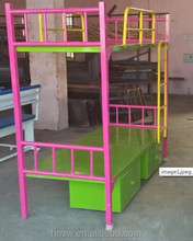 2017 double decker durable military bunk bed with locker dubai bunk bed