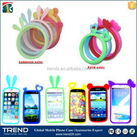 hot selling glowing soft silicone bumper smart phone case for samsung galaxy s6