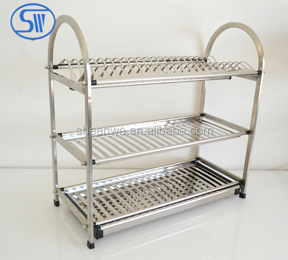 Made In China 3 Tier Kitchen Dish Rack Drainer Holder. Desktop Stainless Steel ...  sc 1 st  Creepingthyme.info & Kitchen Dish Drainers Stainless Steel - Creepingthyme.info