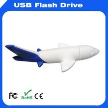 Flexible customized service PVC material air plane usb flash drive for promotional gift
