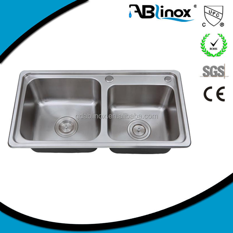 304 stainless steel handmade farmhouse kitchensink basin stainless sink for Kitchen accessorice
