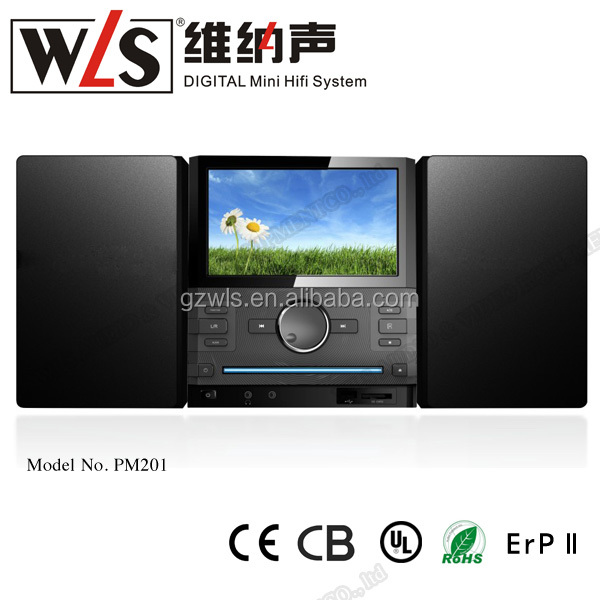 "WLS 7""TFT Screen DVD Player PM201 with portable speaker and home theater system/karaoke function"