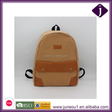 Environmental Washable Kraft Paper Backpack Portable Lightweight School Bag