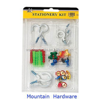 High Qulity 30PCS Assorted House Hardware Kit with Cup Hook, Expansion Screw & Nail Made in China