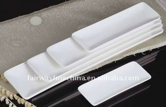New Arrival Durable Porcelain Japanese Rectangular Sushi Dish