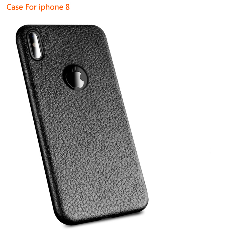 New arrived 2017 Imitation Leather mobile phone case for iphone8