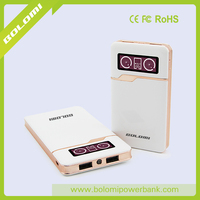 High capacity Mobile Power 10000Mah with LCD double dashboard display battery level dispaly