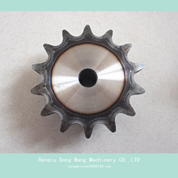 Type B double sprocket, stock bore roller chain sprocket