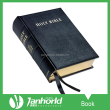 Offset round spine hardcover book, high quality hardcover holy bible book printing