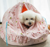 Hot wholesale high quality warm nice beauty wrought iron pet bed