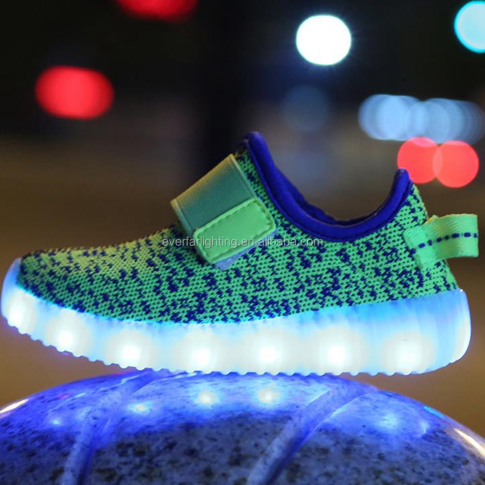 11 color changing led flashing shoes light led kids canvas shoes