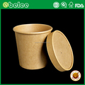 Kraft paper hot soup container paper soup cup fast food paper bowl