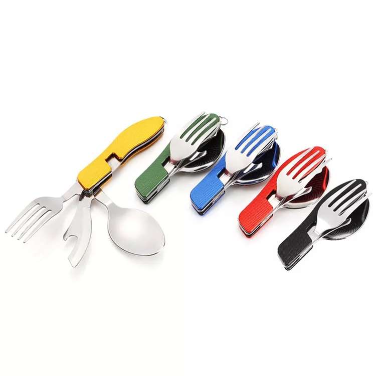 CAMPING FOLDING stainless steel fork and spoon