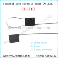 oil tank lock bar code printing steel pad lock Cable Seals 1.5mm price KD-310