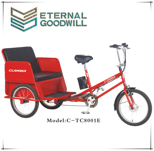 "20"" pedicabs Electric pedicab for passenger/ battery pedicab rickshaw/Six speeds cargo tricycle Manufacture/TC8001E"