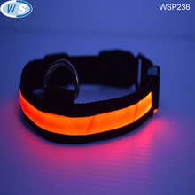 Factory Hot sale USB retractable led dog leashs and collars