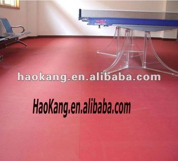 PVC vinyl flooring mats for various sports courts