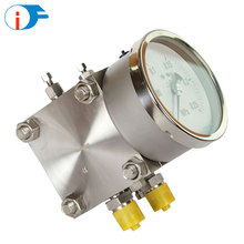 China ALF All Stainless Steel Bellows Differential Pressure Gauge