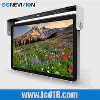 "metal Flip Down/ Roof Mount 10"" 12"" 13"" 14"" 15"" 17 inch LCD Bus TV Monitor 24V with speaker"