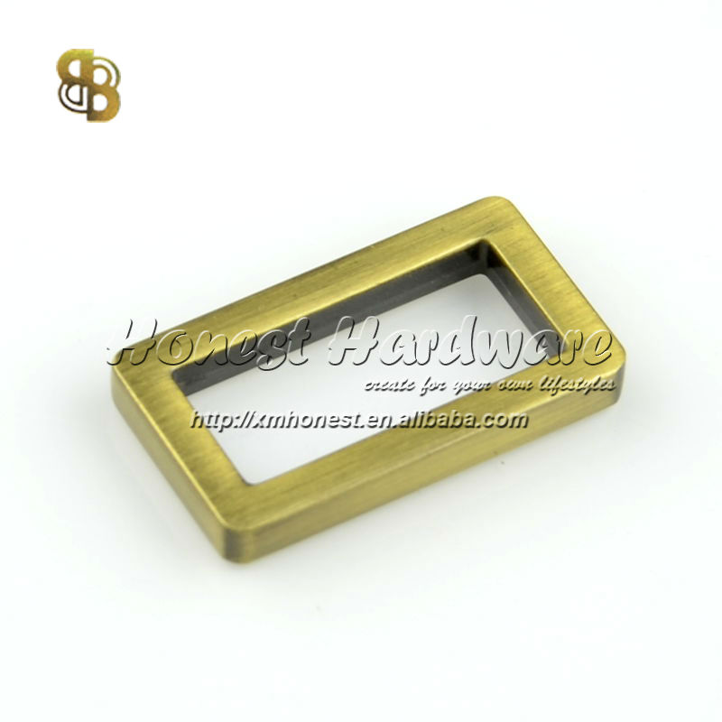 metal rectangle flat ring for bags