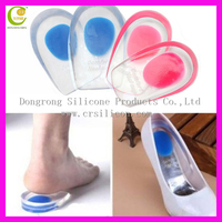 High quality foot care silicone insoles/ foot massaging heel protector gel anti-slip heel pads for high heels women