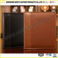 Wholesale High Quality Eco-Friendly Special Fashional Brow And Black PU Leather 12x18 Photo Album Hold Many Photos