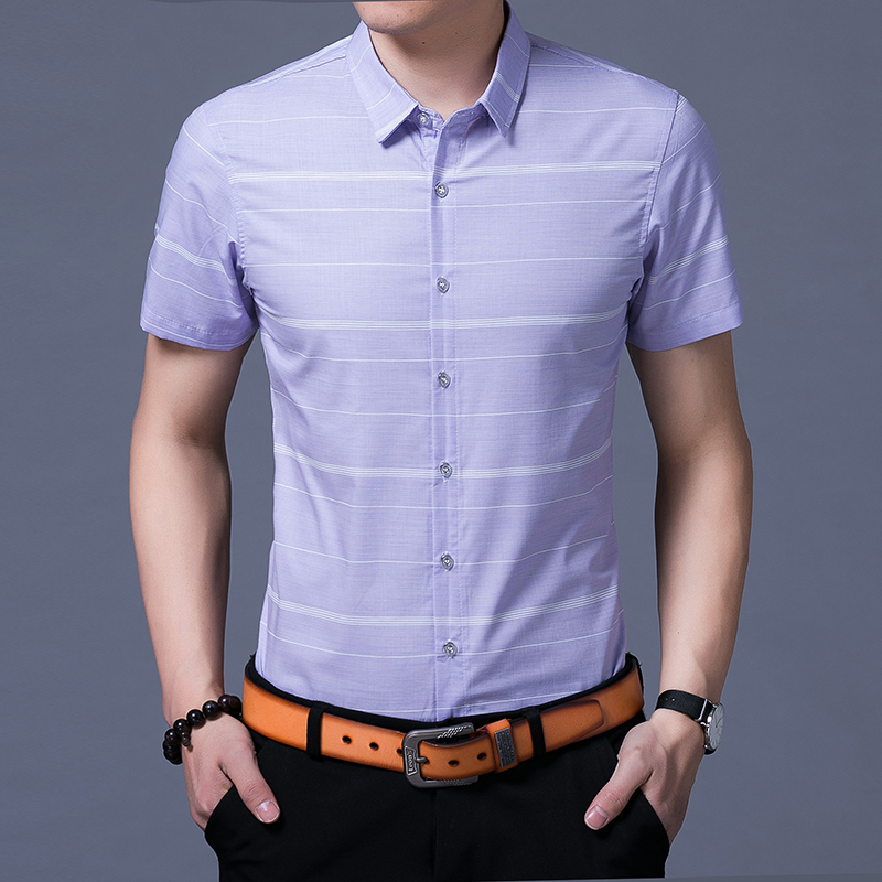 Men's pure cotton non-iron short sleeve <strong>shirt</strong>