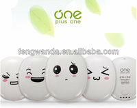 Mini power bank smile face funny power bank