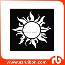 New design-Sun-Laser Cut Plastic Painting Stencils-PET Mylar wall art decor stencil,plastic custom drawing stencil