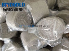 China supplier braided copper wire mesh
