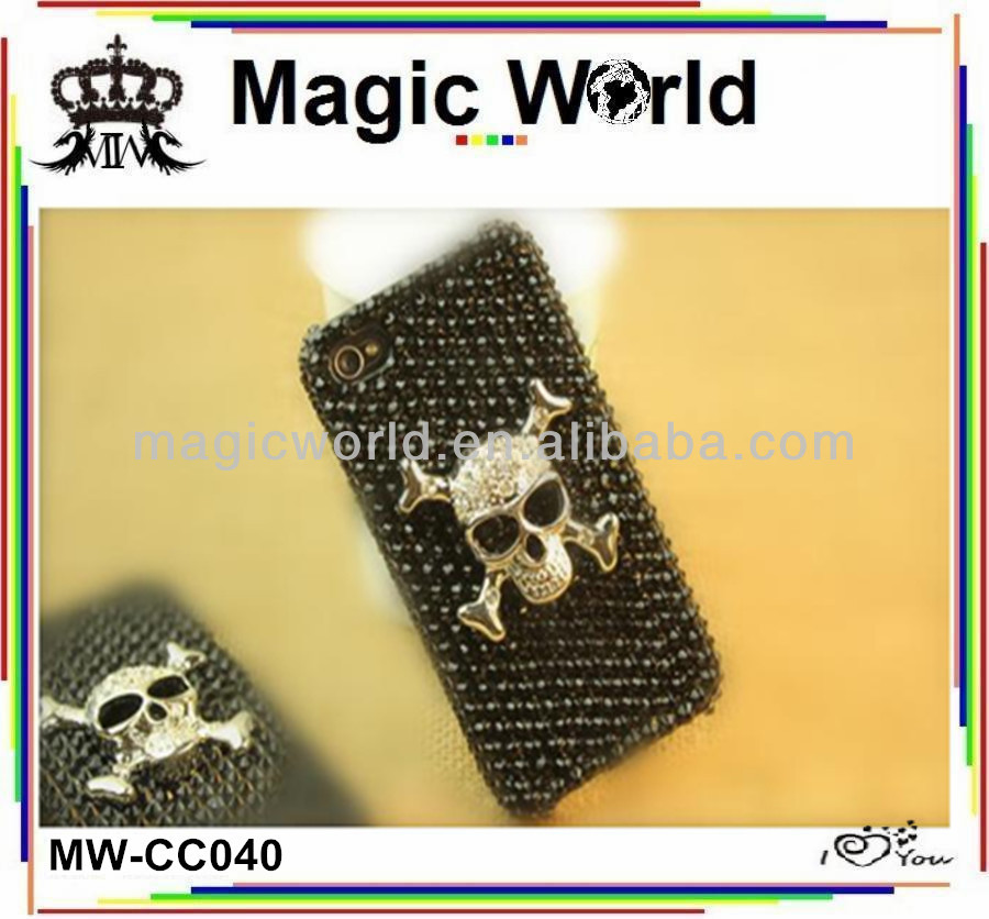 2014 wholesale mobile phone case,skull shaped cell phone