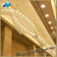 Customization design arc crystal beads irregular crystal chandelier for hotel lobby