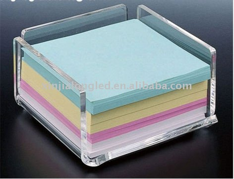 Clear Acrylic Memo Pad Holder or Acrylic Note Pad Holder