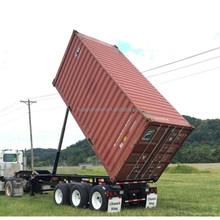 20ft container tipping chassis 40ft tipper container chassis trailer 3 axles 40ft rear tipping container trailer chassis