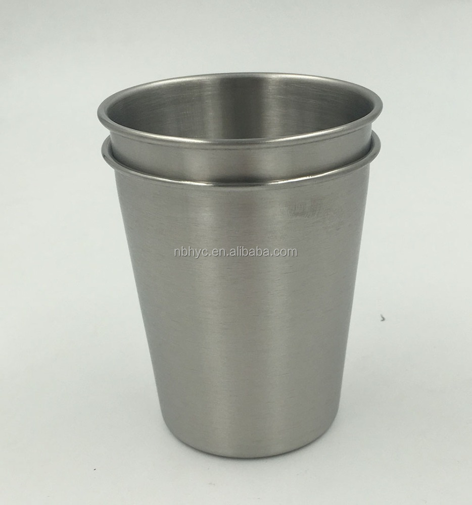 Wide-Base Stainless Steel 8oz <strong>Cup</strong>, BPA FREE stackable Stainless steel Kids Pint <strong>Cup</strong> Glasses tumbler, Stainless steel toddler <strong>Cup</strong>