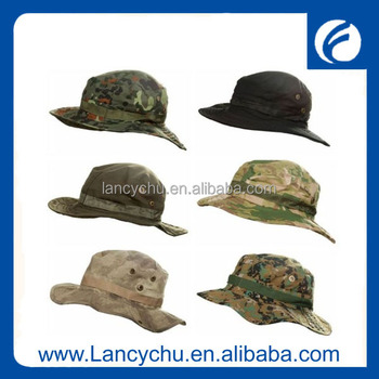 wholesale Round Brim Camouflage Style Fishing camo Bucket Military Hat