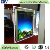 Wholesale backlight led picture frame, acrylic led light box with clear outer frame for display