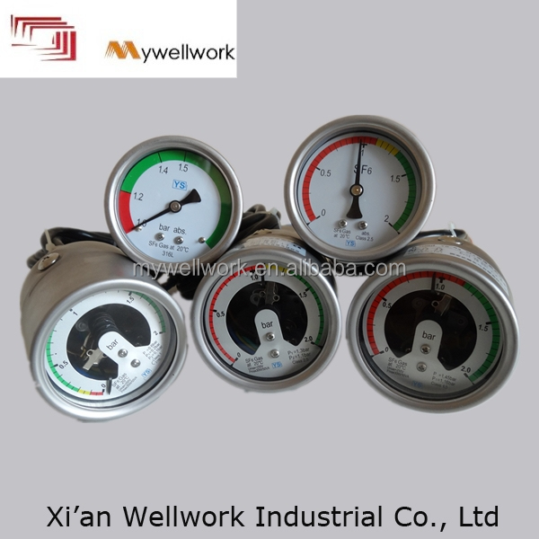 hot-sale of promotional sf6 manometer with oil-filled