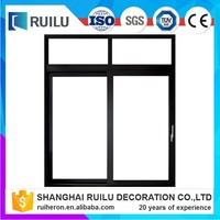 Glass reception window with window grills design for sliding windows and aluminum channel alibaba china