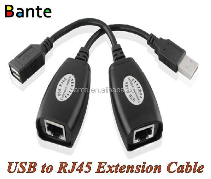 USB to RJ45 Extension Cable Adapter Cat5 Cat5e Cat6 Cable