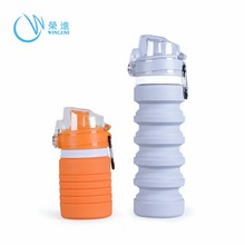 Factory Wholesale New Arrival BPA free Sport Silicone Collapsible Water Bottle