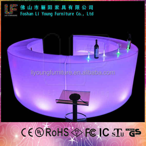 Modern plastic led pub bar cabinet furniture LGL-1574/China manufacturer coffee bar counters for sale